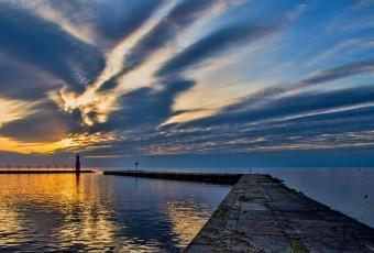 Algome Lighthouse sunrise.