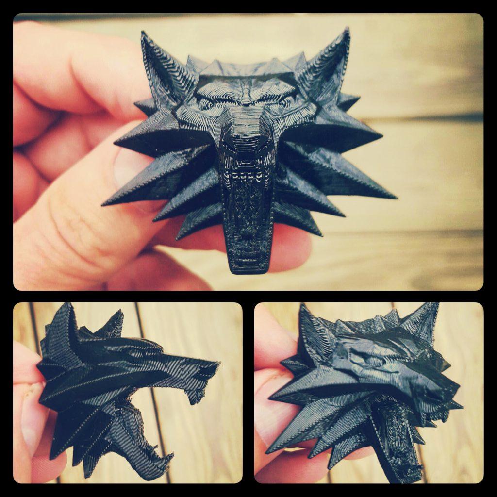 3D Printed Wolf Brooch